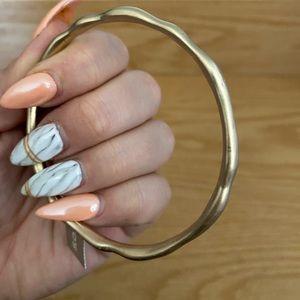 Chico's Waved Gold Bangle Bracelet
